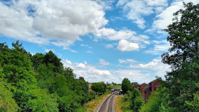 Chiltern Line east from the railway bridge